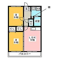 リファレンス筑紫野[4階]の間取り