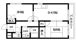 甲子園マンションII[302号室]の間取り