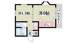 ベース新神戸[1階]の間取り