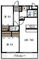 HAYATE・JAPAN[305号室]の間取り