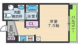 OrientCity・M 6階ワンルームの間取り