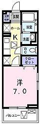 鷹匠町アパート1[2階]の間取り
