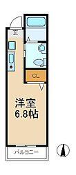 千葉県松戸市野菊野の賃貸アパートの間取り