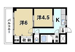 マンション ヒライ[3階]の間取り
