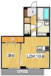 LSY45[306号室号室]の間取り