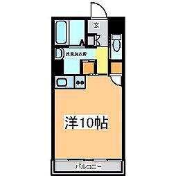 広島県東広島市西条町下見の賃貸マンションの間取り