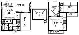 [一戸建] 大阪府東大阪市下小阪4丁目 の賃貸【/】の間取り