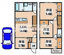 [一戸建] 大阪府堺市西区上野芝向ケ丘町3丁 の賃貸【/】の間取り