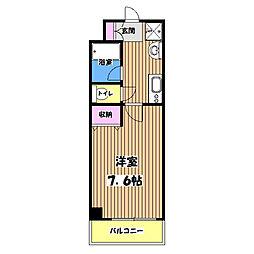 南新町マンション[5階]の間取り
