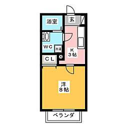 メゾーネII[2階]の間取り