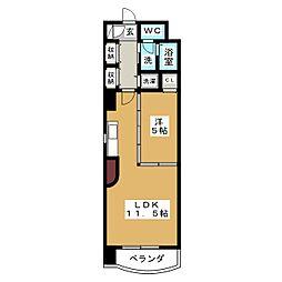 アウローラ泉'04[5階]の間取り