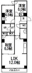 ロイヤル三愛[2階]の間取り