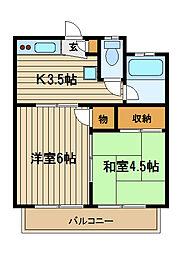 静荘[2階]の間取り