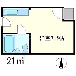 ペルル[3階]の間取り