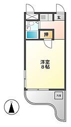 SIMON茶屋が坂(旧シャトー赤坂)[3階]の間取り