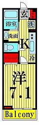 東京都足立区西新井4丁目の賃貸マンションの間取り