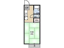 サンライフ都島[2階]の間取り