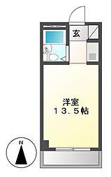 愛知県名古屋市南区白水町の賃貸マンションの間取り