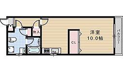 大阪府大阪市阿倍野区阪南町6丁目の賃貸マンションの間取り