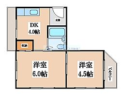 小阪マンション[2階]の間取り
