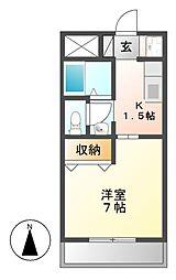 エクセレンス千原[2階]の間取り