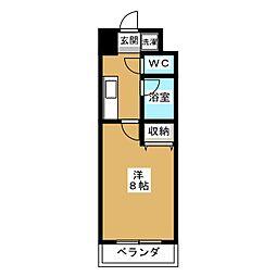 サンシティ烏丸高辻[10階]の間取り