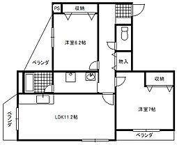 富士ビルマンションNo.1[201号室]の間取り