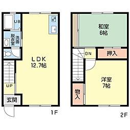 新潟県新潟市中央区鳥屋野南1丁目の賃貸アパートの間取り