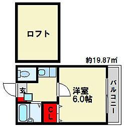 ジュネス10[2階]の間取り