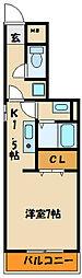 兵庫県明石市西明石西町1丁目の賃貸アパートの間取り