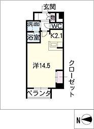 グラヴィス鶴舞[2階]の間取り