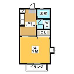 マリアージュE棟[1階]の間取り
