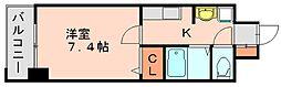 アイセレブ祇園[11階]の間取り