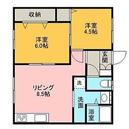 5丁目ハウス[1階]の間取り