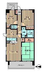 フォレストパーク相模原[2階]の間取り