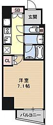 CQレジデンス京都御所西[1004号室号室]の間取り