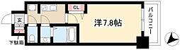 ADVANCE NAGOYA MOXIE 6階1Kの間取り