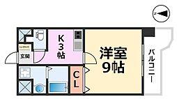 サニーコート明和[4階]の間取り