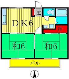 パナハイツ丹羽[2階]の間取り