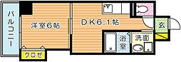 THE SQUARE・Suite Residence[5階]の間取り