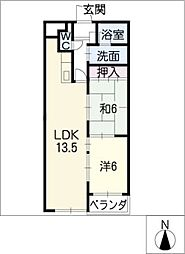 パークサイドハイツ[3階]の間取り