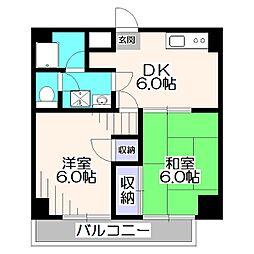 東京都西東京市東町3丁目の賃貸マンションの間取り