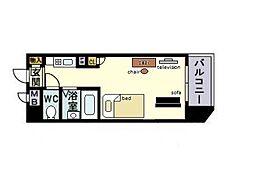 家具・家電付き ロマネスク平尾第3[1階]の間取り