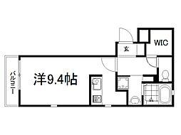 THE GARNET SUITE RESIDENCE龍谷大前 2階ワンルームの間取り