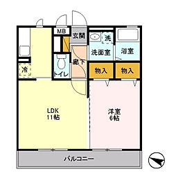 戸塚区平戸町 パークアベニュー103[1階]の間取り
