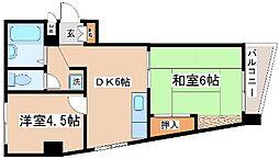 兵庫県神戸市灘区青谷町2丁目の賃貸マンションの間取り