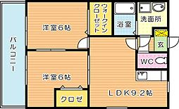 LEONE黒崎南(レオーネ黒崎南)[2階]の間取り