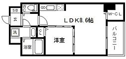 SEST新大阪[3階]の間取り