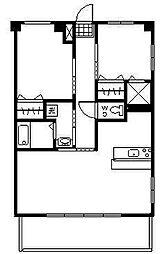 クシマスターズマンション[201号室]の間取り
