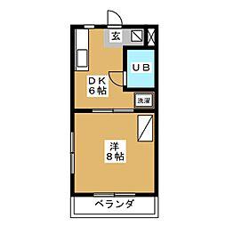 コートフレーベル[3階]の間取り